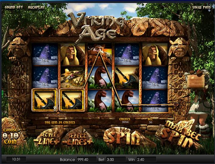 Vikings Age - Online slot screenshot.