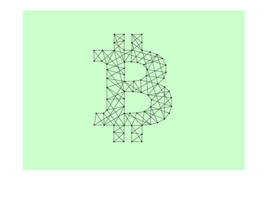 Bitcoin symbol illustrated in blockchain style.  More and more online casinos are crypto based.