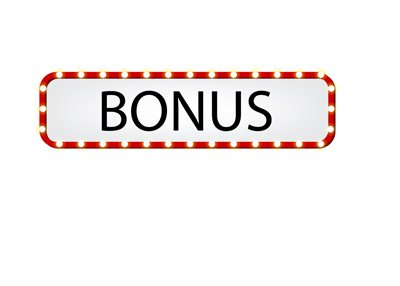 Online Casino Bonus - Flashing sign.