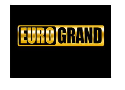 Euro Grand casino logo - Gold on black background.