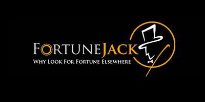 FortuneJack Crypto Casino - Logo - Black background.