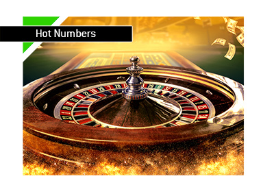 Gamblers Fallacy - Roulette table - Hot numbers - Illustration.