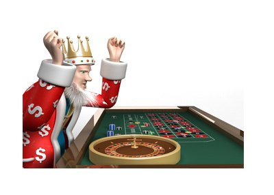 The King is showing excitement during his recent win at the roulette table.