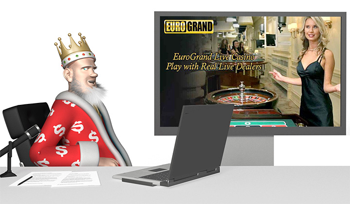 The Roulette King presents Euro Grand live dealer setup.