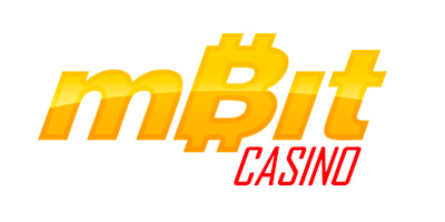 mBit Casino - Logo on white background.  Branding.
