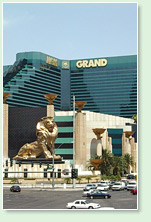 mgm grand hotel in las vegas - daylight shot - lion