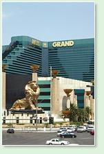 mgm grand hotel in las vegas - daylight shot - lion