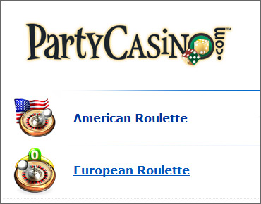 American and European Roulette at PartyCasino.com