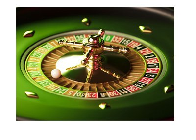 Roulette wheel - Stylized photo - Greened out.