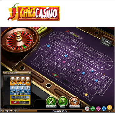 Roulette Pro game by Playtech branded for Chili Casino - Click to Play