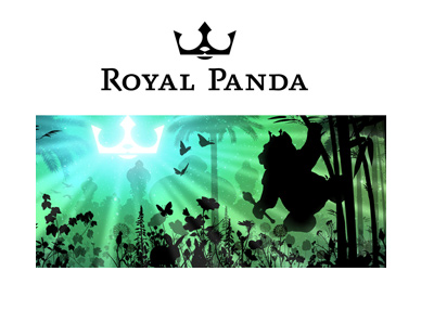 The Royal Panda - Logo and jungle themed graphic.