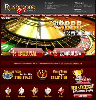 Rushmore Casino screenshot