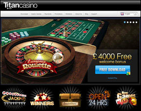 Screenshot of Titan Casino - Bonus Promo - Up to $4000 Free