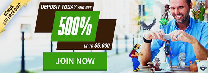 Cafe Casino latest promotion screenshot.