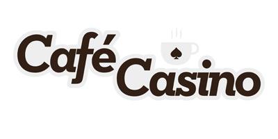Cafe Casino logo - White background.