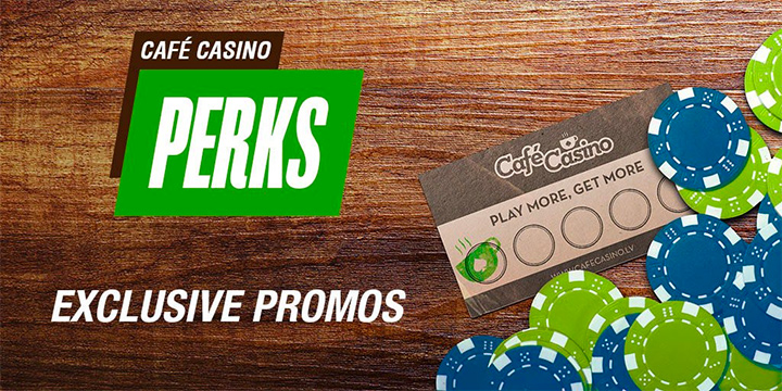 Free chips and other perks at one of the top online casinos, Cafe Casino.
