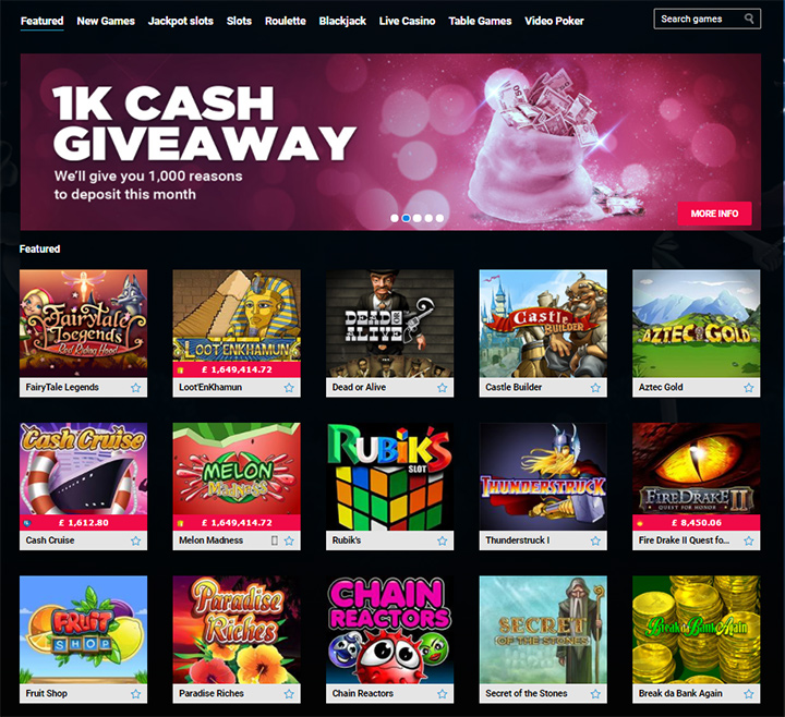 Cash Giveaway at PartyCasino - Online game.